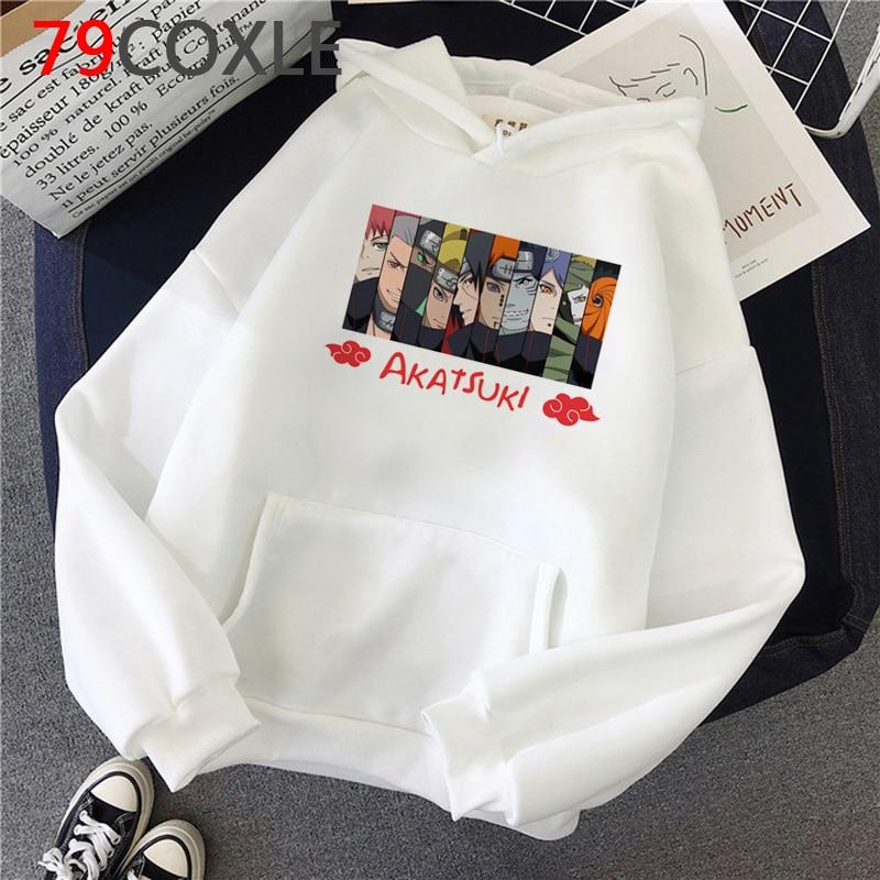 Hot Anime Naruto Hoodies Men Kawaii Japanese Cartoon Akatsuki Graphic Hoody Harajuku Funny Streetwear Fashion Sweatshirts Male