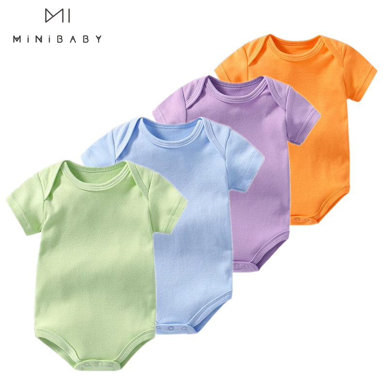 Summer Many Colours Unisex Baby Clothes 100% Cotton New Born Baby Clothes Newborn - 2 Years Infant Clothing One Piece Bodysuit