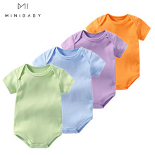 summer many colours unisex baby clothes 100% cotton new born baby clothes newborn - 2 years infant c