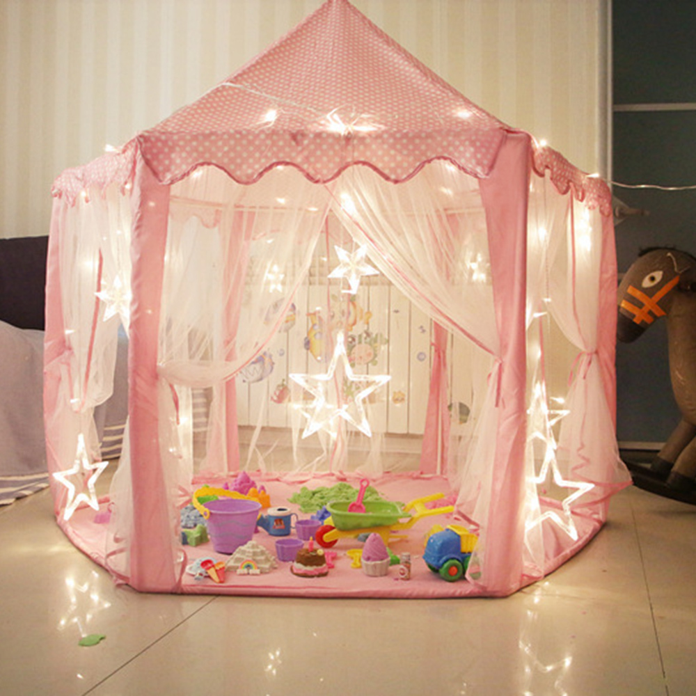 Girl Princess Castle Tents Portable Children Outdoor Garden Folding Play Tent Lodge Kid Ball Pool Playhouse Children's Toy Tent