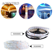 5M 12V Waterproof LED Cabinet Light Holiday Home Decoration Flexible Ribbon Closet Lights LED Light Strip SMD 5050/2835 60leds/m(China)
