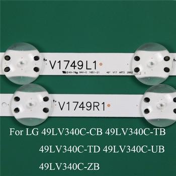 Pieza de sustitución de iluminación de TV LED para LG 49LV340C-ZB 49LV340C-UB CB TB TD barra de luz de fondo, regla de Línea de tira V1749L1 2862A