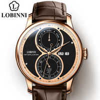 LOBINNI Reloj de los hombres automatic mechanical watch brand wrist watches luxury gift water resistant latest design wristwatch