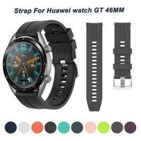 Siliconen Band Strap Voor Huawei Horloge Gt 2 Pro Originele Smartband Wriststrap Voor Amazfit Gtr 2/Gtr 47Mm/Stratos 3 2S Armband