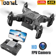 Hot Selling V2 Mini Drone 4K 1080P HD Camera WiFi FPV Air Pressure Altitude Hold Quadcopter Foldable RC Helicopter Kid Toy Gift
