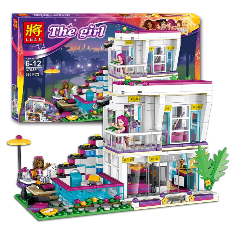 Building Block <font><b>10498</b></font> girl Friends Livi's Pop Star House 41135 Emma Mia Figure Educational Toy For Children building block Toys image
