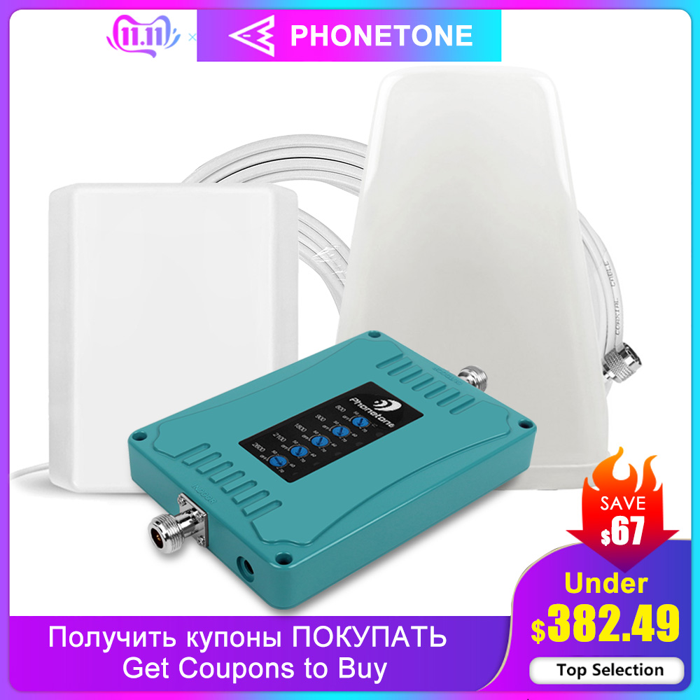 GSM 4G 3G Repeater Gd 900 Cell Phone Signal Booster Cellular Signal Amplifier 800/9/1800/2100/2600MHz 70dB 2G Repeater Amplifier