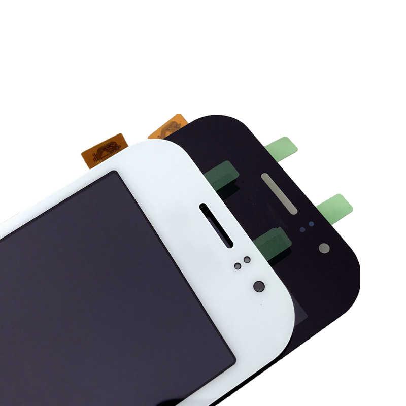 اختبار العمل LCD قطع غيار سامسونج غالاكسي J1 Ace J110 SM-J110F شاشة LCD عرض تعمل باللمس محول الأرقام التحكم في السطوع