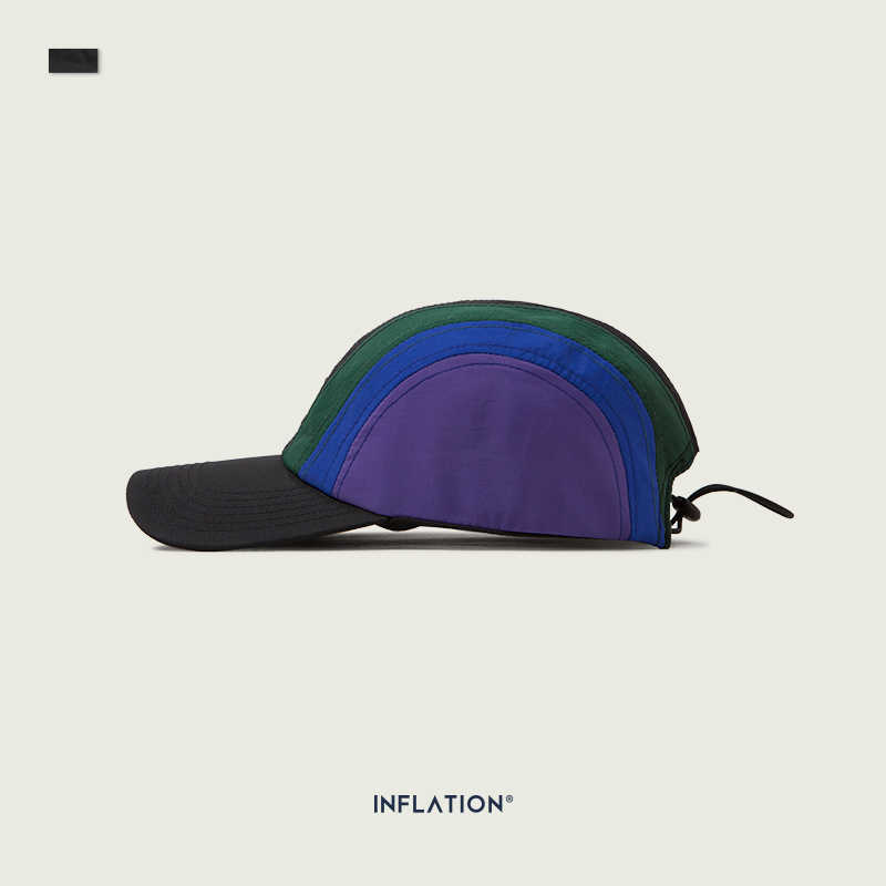 INFLATION Men Hat Curved Sun Visor Candy Color Striped Men Baseball Cap Men Outdoor Cap Sun Hat Adjustable Sports Caps 173CI2019