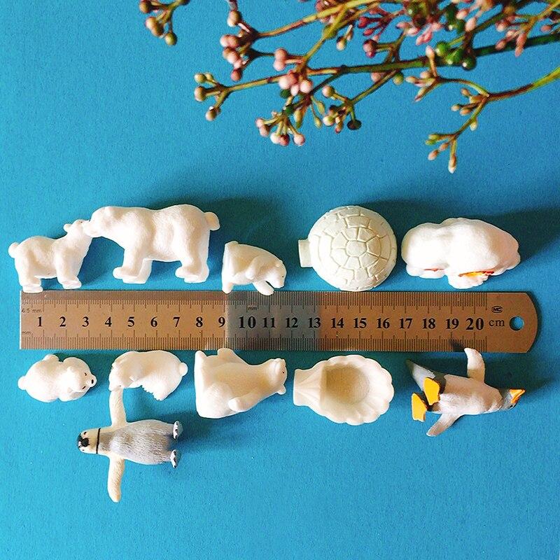 Pinguim de gelo/casa/urso polar/miniatura/adorável bonito/fada do jardim gnome/musgo terrário decoração /artesanato/doll house/figura/brinquedo/modelo