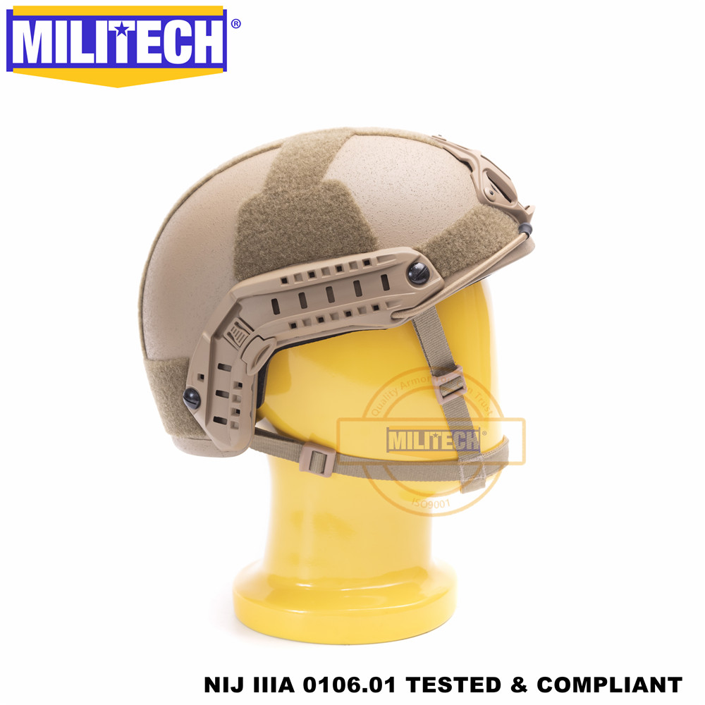 Image 4 - MILITECH Ballistic helmet FAST CB Deluxe Worm Dial NIJ level IIIA 3A High Cut ISO Certified Twaron Bulletproof Helmet DEVGRU-in Safety Helmet from Security & Protection