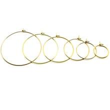 20pcs золото 316L круглый контур из нержавеющей стали, обод кольцо, серьги, застежки, гипоаллергенный провод для ушей, фурнитура для ювелирных из...
