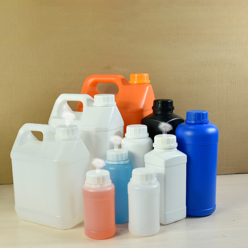 HDPE Plastic Bottles With Tamper Evident Breathable Lids Liquid Fertilizer Container Leakproof Refillable Bottle
