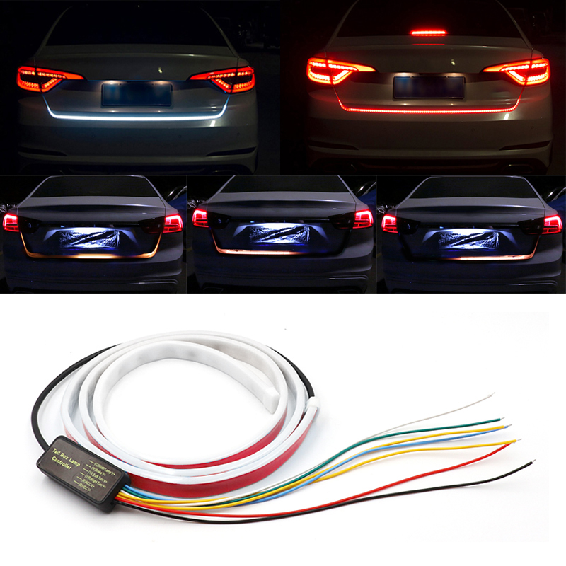 120cm/150cm Dynamic Streamer Floating Additional Stop Light LED Car Tail Trunk Tailgate Strip Dynamic Streamer Turn Signal Lamp