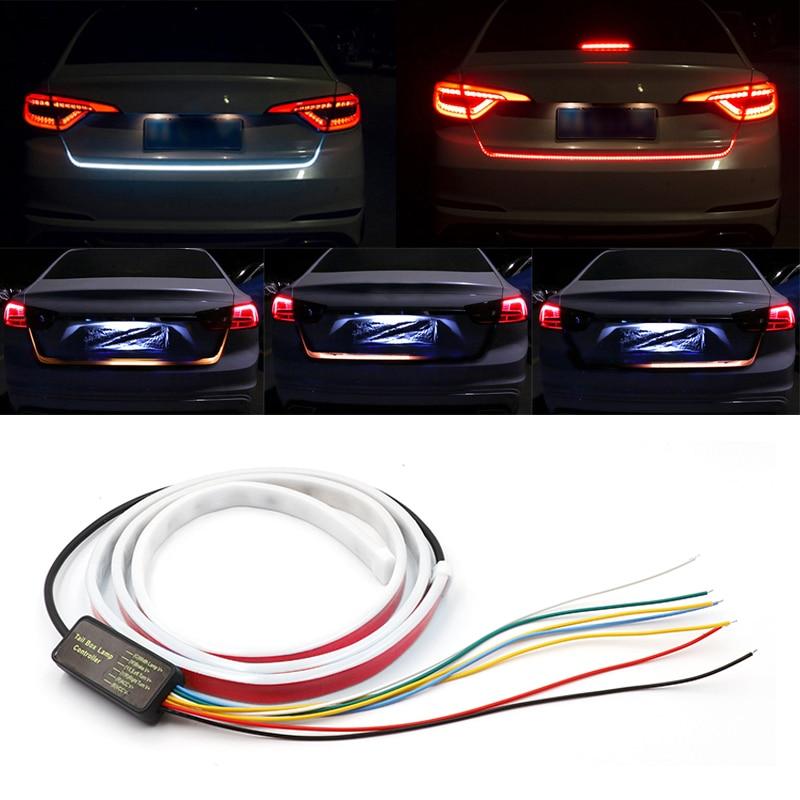 Streamer dinámico para puerta trasera de coche luz de freno LED adicional, tira de señal intermitente tipo cinta dinámica, 120cm/150cm|Lámpara decorativa| - AliExpress