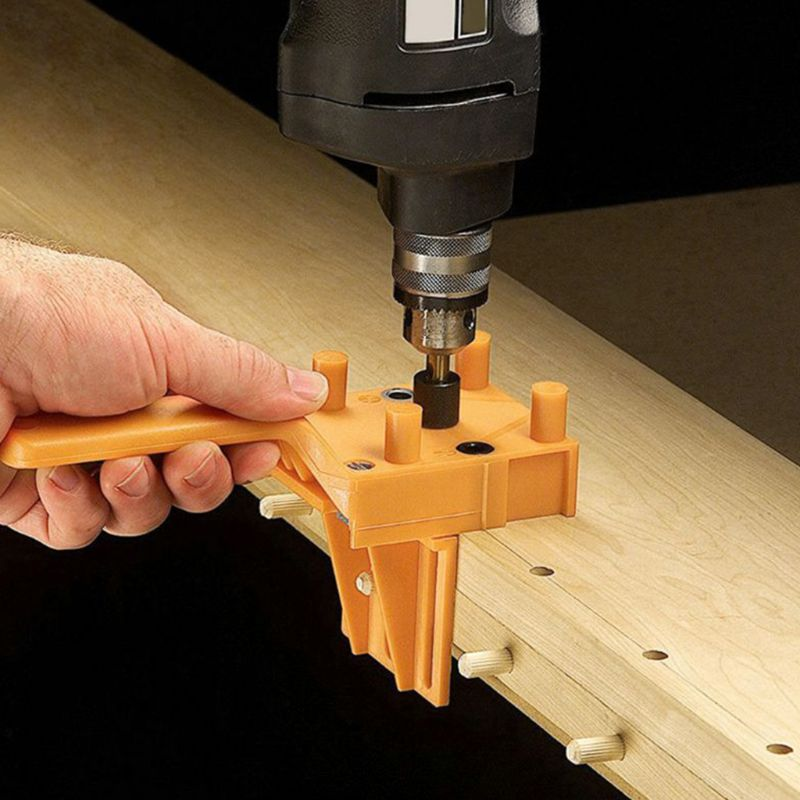 Handheld Woodworking Doweling Jig Drill Guide Wood Dowel Drilling 63HF