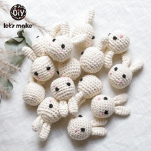 Let's Make 10pc Baby Teether Wooden Crochet Beads Panda Decoration BPA Free Wood