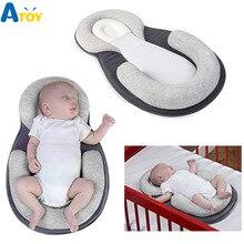 Детское позиционер для сна, формирующая Подушка для новорожденного младенца, антироллорная Матрас Подушка для сна, позиционная площадка, хлопковая подушка