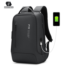 Fenruien 2020 New Backpack 15.6 Inch Notebook Backpack Black for Men USB Charging Business Travel Backpack Waterproof Anti-Theft