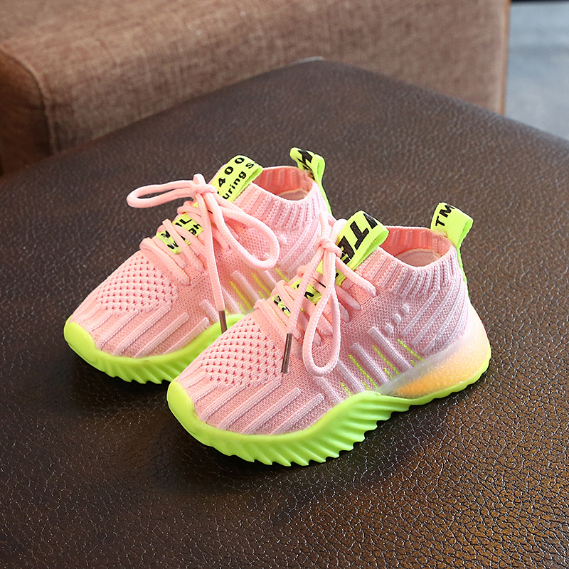 2020 Autumn Non-Slip Children\'S Luminous LED Shoes New Children\'S Shoes Boys And Girls Fashion Breathable Boys Sneakers 21-30