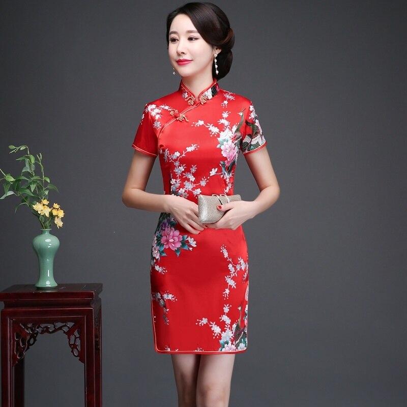 Daily Life New Cheongsam Improved Version nian qing kuan 2019 summer & autumn zhuang GIRL'S Chinese-style Short Dress Dress 1