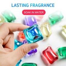 10 шт цветной стиральный шарик для стирки жидкий стиральный капсулы для стирки растворить очиститель пятен одежда аромат антибактериальный