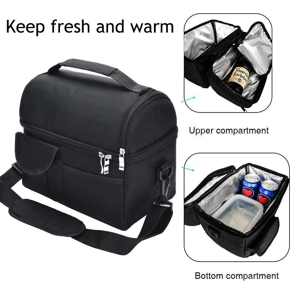 Cooler Lunch-Box Insulated Women Leakproof 8L Multifunctional Reusable title=