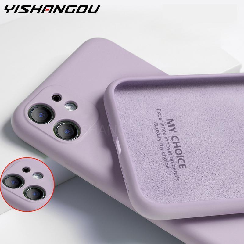 Жидкий силиконовый чехол для iPhone 12 11 Pro XS Max SE 2X10 XR, роскошный противоударный шелковистый мягкий чехол-накладка для iPhone 7 8 6 6s Plus 5