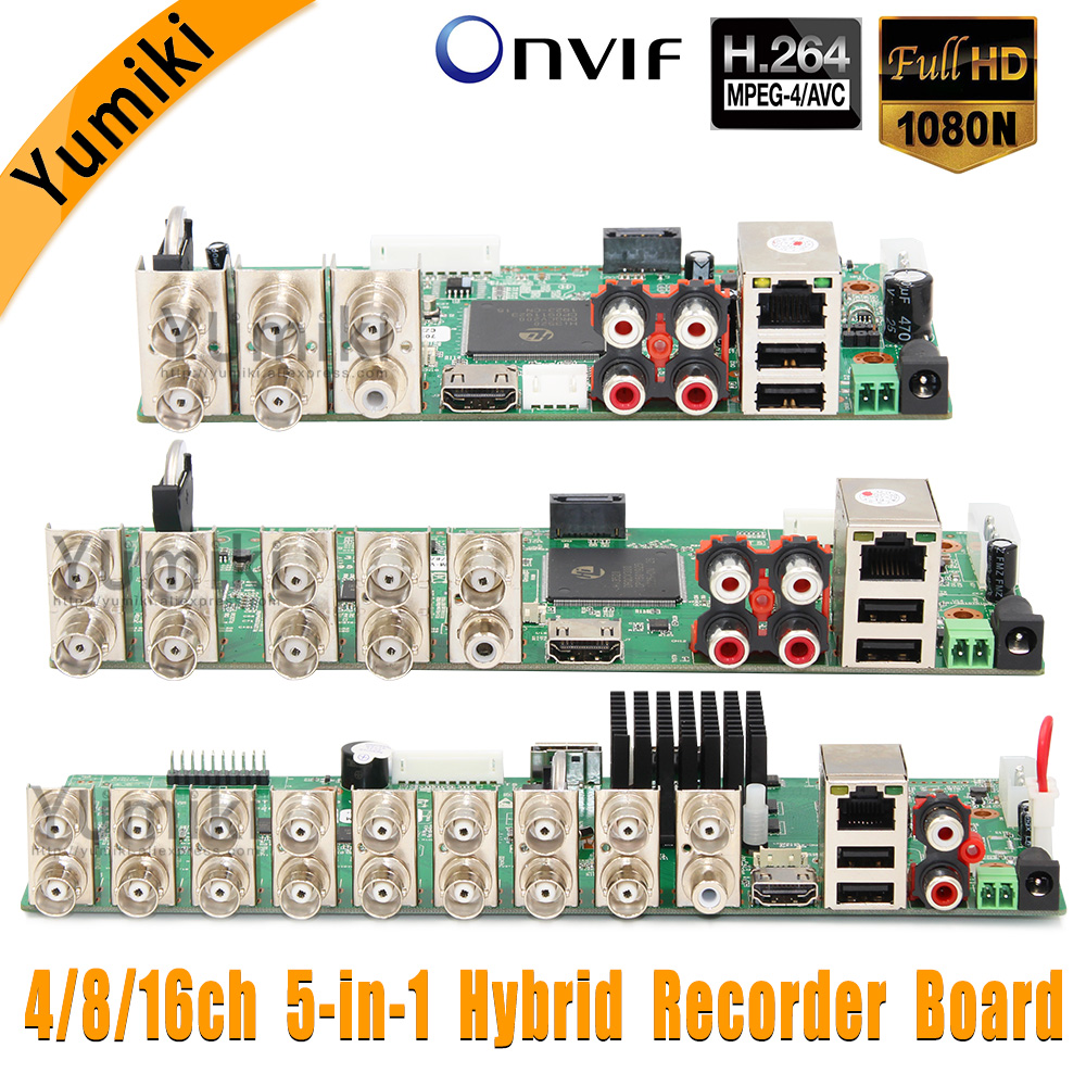 DVR Dvr-Board Hybrid Ahd-Dvr Security-Cctv-Recorder Surveillance 1080N 8CH/16CH TVI 5-In-1