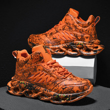 INS Hot Running Shoes for Men Breathable Athletic Outdoors Sport Shoes Adults Trainers Graffiti Male Jogging Shoes Zapatillas led luminous graffiti athletic shoes