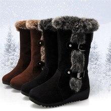 New Winter Women Boots Casual Warm Fur Mid-Calf Boo