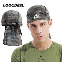 LOOGDEEL Klettern Kappe Leichte Atmungsaktive Haut-freundliche Anti-Uv Kopf Schal Outdoor Sports Lauf Hüte Radfahren Headwear