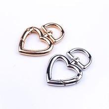 10 шт круглые кольца в форме сердца металлические с родиевым