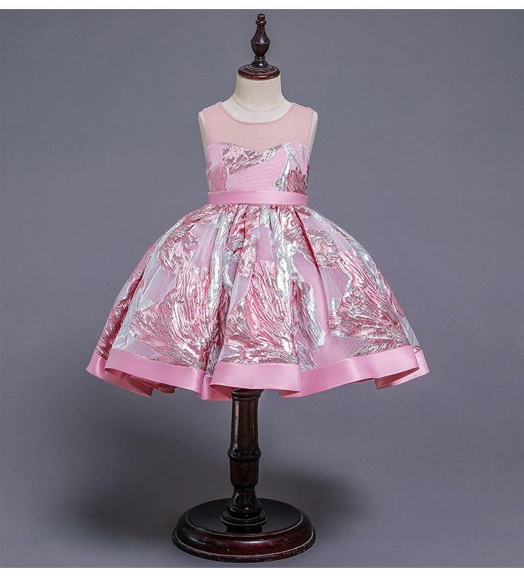 Children's Dress Flower Girl Princess Skirt Girl Poncho Sarong Super Fairy Western Show Host Birthday Piano Costume