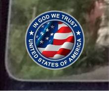 ProSticker di vendita caldo In God We Trust decalcomanie In vinile riflettente In PVC per decalcomanie degli stati uniti