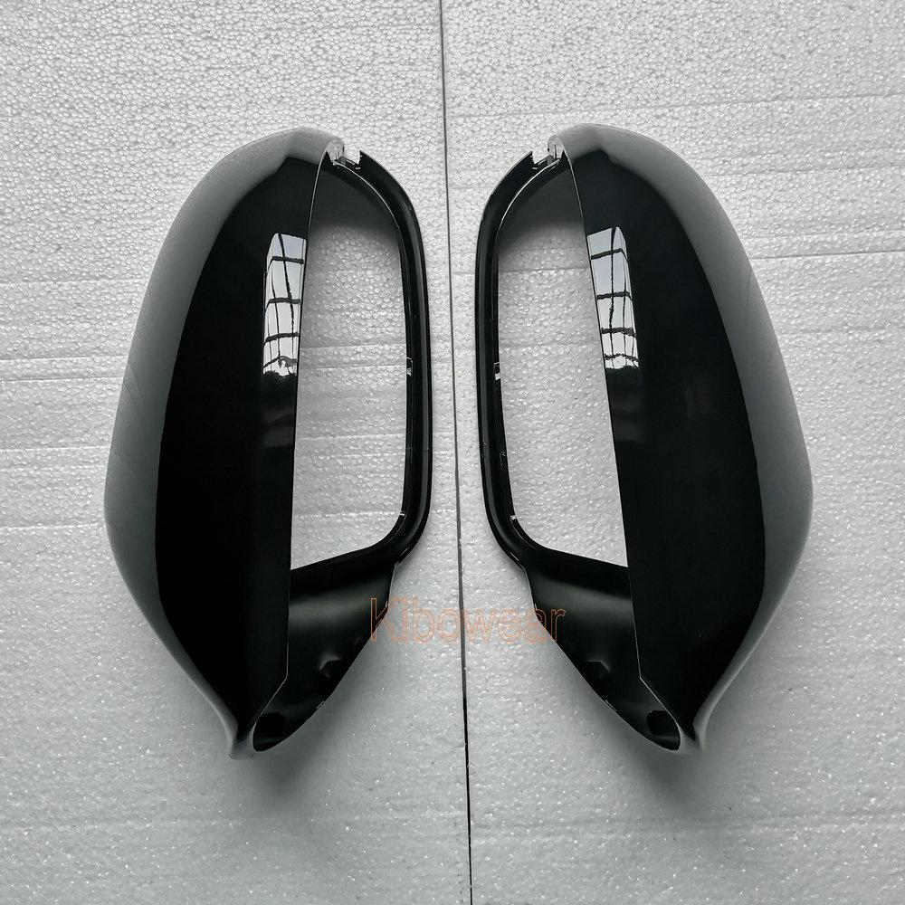 Image 3 - צד מראה כובע מכסה לאאודי A6 C7 C7.5 S6 4G 2012 2013 2014 2015 2016 2017 2018 אחורי צפו באגף מקרה שחורמראות וכיסוייםרכבים ואופנועים -