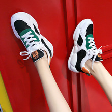 2019 Autumn Female Thick Bottom Sneakers Mixed Colors Platform Shoes Women Casual Dad Shoes Running Shoes Footwear Designer Shoe