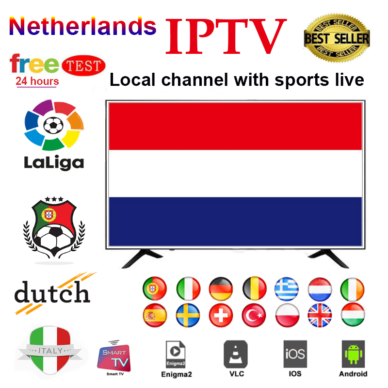 Netherlands IPTV M3U Subscription Spain Italia Greece DAZN Ziggo Movistar Sport Live For Smart TV Box Android TV H96 Max X96 Max