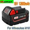 Литий-ионный аккумулятор большой емкости 18 в 12800 мАч для Milwaukee M18 48-11-1815 48-11-1850 2646-20 2642-21CT, аккумулятор repalцемента M18