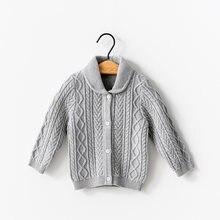 Вязаный кардиган с лацканами осенний свитер детская одежда свитеры