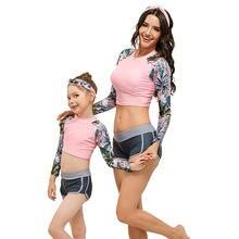 Модный Купальник для серфинга комплекты одежды мамы и дочери