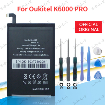 Oukitel K6000 Pro Battery Replacement Original Large Capacity 6000mAh Back Up Batteries For Oukitel K6000 +Tracking + tools image