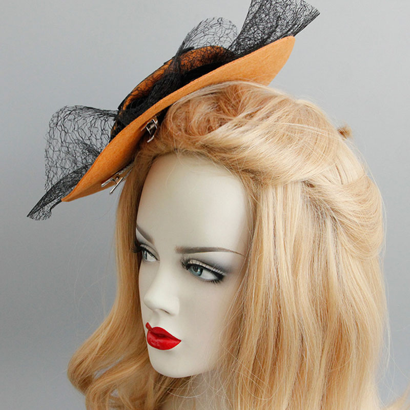 Woman Gothic Wind Bat Net Hat Hair Clip Halloween Vampire Headpiece Carnival Party Decoration Props Hat Hair Clips in Women 39 s Hair Accessories from Apparel Accessories
