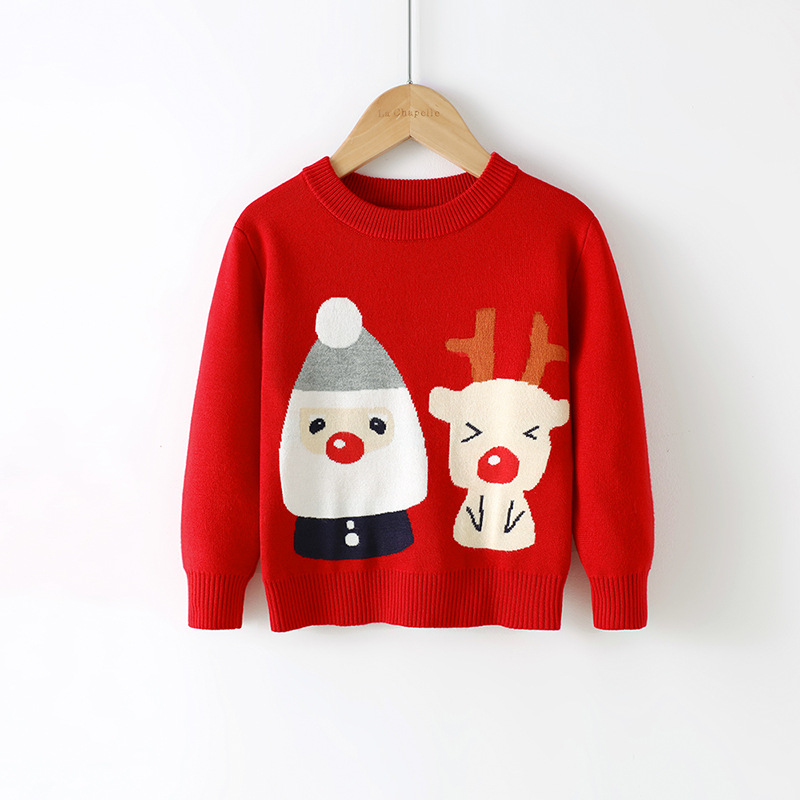 2021 Baby Girls Boys Sweater Christmas Costume Autumn Children Clothing Knitwear Boy Girl Pullover Knitted Sweater Kids Sweaters 2