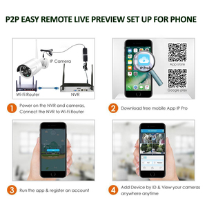 "Image 4 - 8CH 1080P Audio Draadloze Surveillance Cctv Systeem Netwerk 10.1 ""Lcdmonitor Nvr Recorder Wifi Kit 1080P Hd 2.0MP audio Wifi Camera"