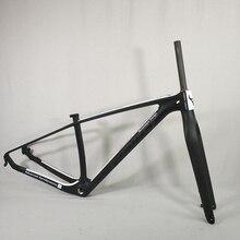 จักรยานคาร์บอนเฟรม 29er Mountain จักรยานกรอบ UD สีดำ Mate Glossy 15 17 19 นิ้ว mtb คาร์บอนส้อม 15 9 มม.ที่กำหนดเองสี