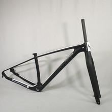 אופניים פחמן מסגרת 29er אופני הרי מסגרת UD שחור Mate מבריק 15 17 19 אינץ עם mtb פחמן מזלג 15 9mm מותאם אישית צבע