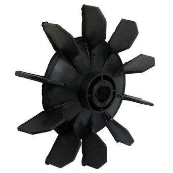 Air Compressor Part Black Plastic 14mm Inner Dia. Ten Vanes Motor Fan Blade