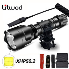 XHP 50,2 LED Taktische Taschenlampe leistungsstarke Xlamp Wasserdichte T6/L2 Taschenlampe Scout lanterna Jagd licht 5 Modi durch 1*18650 batterie
