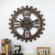 Gear wall Clock Modern Design Wind Machinery Creative Soft Bar Bar Wall Clock Wall Decoration